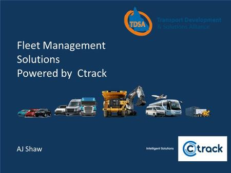 Fleet Management Solutions Powered by Ctrack AJ Shaw.