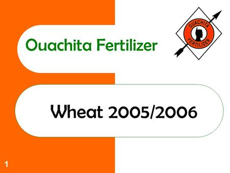 1 Ouachita Fertilizer Wheat 2005/2006. 2 Ouachita Commitment to you Increase yields Lower Costs Help solve those production problems that limit profitability.