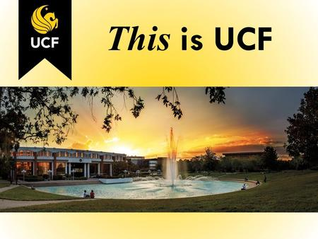 This is UCF. Fairwinds Alumni Center All Knight Study.
