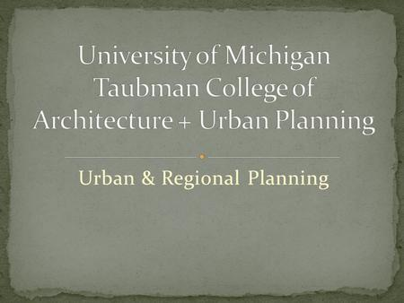Urban & Regional Planning. Lan Deng, Ph.D. Assistant Professor of Urban Planning Research and Teaching Interests: Housing Policy and Economics, Fiscal.