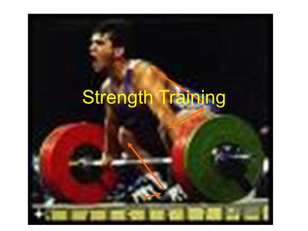 Strength Training. What is Strength Training? Free Weights Machines Medicine Balls Sand bags Sleds Harnesses Uphill Runs Bodyweight Exercises Partner.