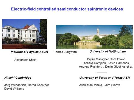 Electric-field controlled semiconductor spintronic devices
