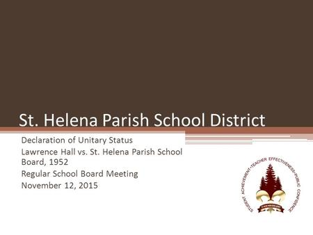 St. Helena Parish School District