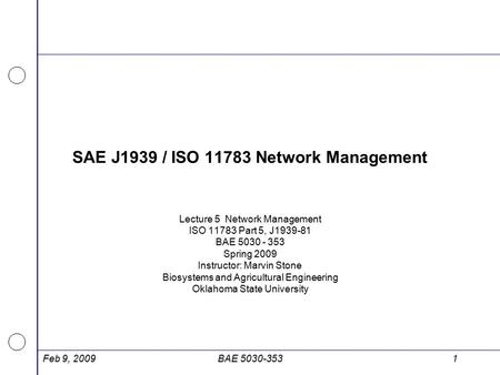 SAE J1939 / ISO Network Management