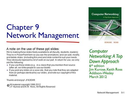 Chapter 9 Network Management