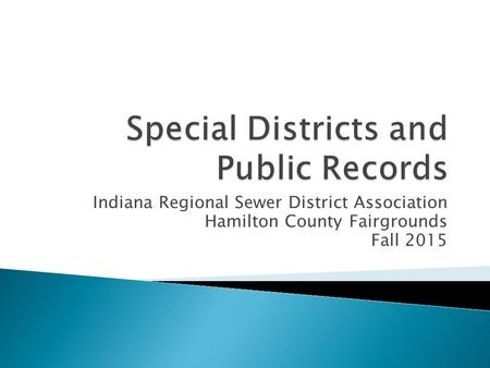 Indiana Regional Sewer District Association Hamilton County Fairgrounds Fall 2015.