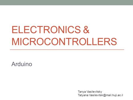Electronics & Microcontrollers