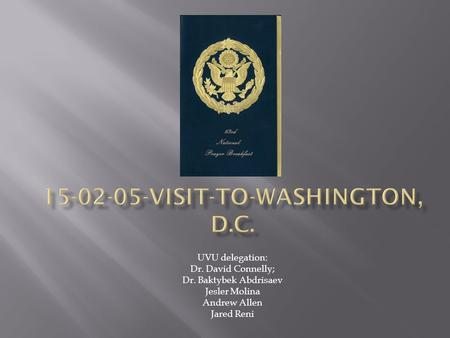 VISIT-TO-WASHINGTON, D.C.