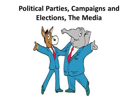 <strong>Political</strong> <strong>Parties</strong>, Campaigns <strong>and</strong> Elections, The Media.