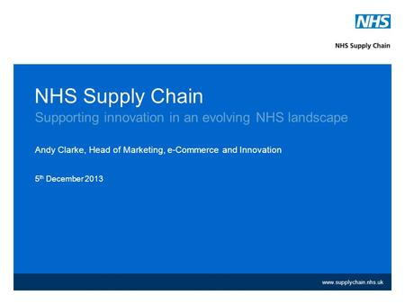 Supporting innovation in an evolving NHS landscape
