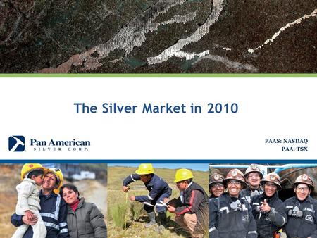The Silver Market in 2010. The Silver Market 2010 2 (Jan 4 $17.17/oz) (Dec 30 $30.70/oz) The average silver price in 2010 was $20.19 per ounce The price.