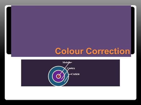 Colour Correction Medulla Cortex Cuticle. What do you think Colour Correction is?