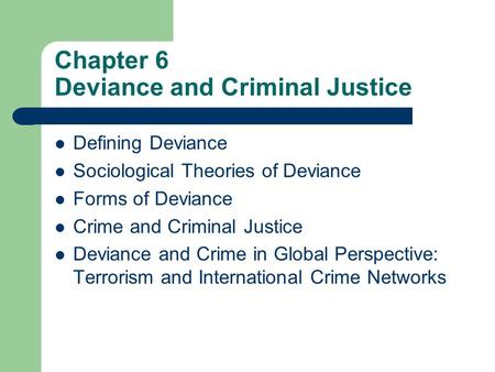 forms of deviance