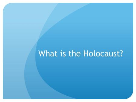 What is the Holocaust?. Warm-up: AP Friday! The Columbian Exchange involved which of the following new connections in the era 1450–1750? (A) European.