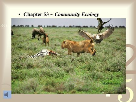 Chapter 53 ~ Community Ecology