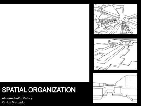 Alessandra De Valery Carlos Mercado. Space Design Architectural spatial organizational schemes How divide the internal spaces to create architectural.