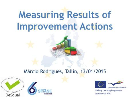 Measuring Results of Improvement Actions Márcio Rodrigues, Tallin, 13/01/2015.