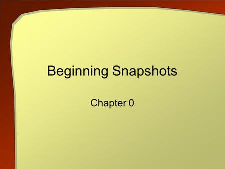 Beginning Snapshots Chapter 0. C++ An Introduction to Computing, 3rd ed. 2 Objectives Give an overview of computer science Show its breadth Provide context.