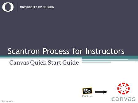 Scantron Process for Instructors Canvas Quick Start Guide V3.11.5.2015.