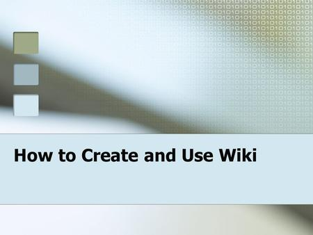 "How to Create and Use Wiki. Resources Jordan, Michael. ""The Wonderful World of Wikis: Create and Maintain any kind of content, quickly and easily."" Lessons."