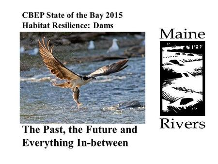 CBEP State of the Bay 2015 Habitat Resilience: Dams The Past, the Future and Everything In-between.