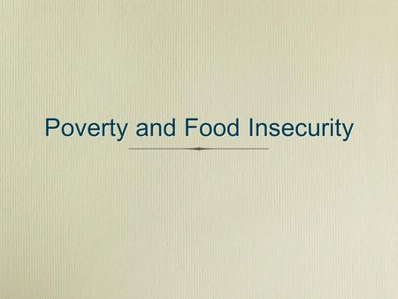Poverty and Food Insecurity. Poverty in Wisconsin.