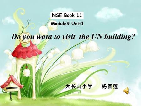 NSE Book 11 Module9 Unit1 Do you want to visit the UN building? 大长山小学 杨春莲.