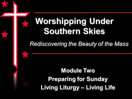 Worshipping Under Southern Skies Module Two Preparing for Sunday Living Liturgy – Living Life Rediscovering the Beauty of the Mass.