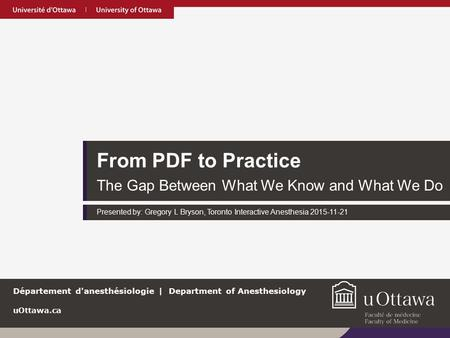 From PDF to Practice The Gap Between What We Know and What We Do