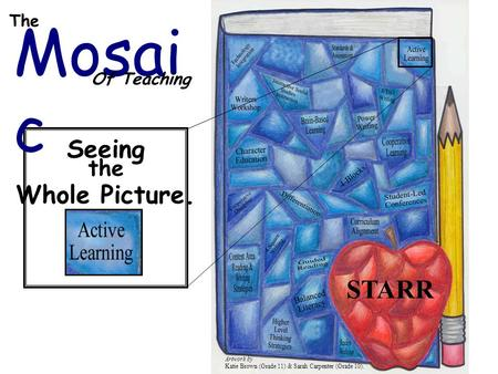 Mosai c Of Teaching The STARR Artwork by Katie Brown (Grade 11) & Sarah Carpenter (Grade 10). Seeing the Whole Picture.