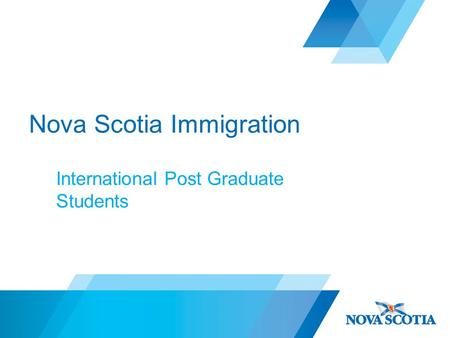 Nova Scotia Immigration International Post Graduate Students.