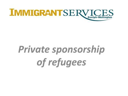 Private sponsorship of refugees. Convention refugee A Convention refugee is a person who, by reason of a well-founded fear of persecution for reasons.