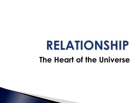 The Heart of the Universe. Father, Son and Holy Spirit  What relationships are important to you?  People of every culture long for relationships, love,