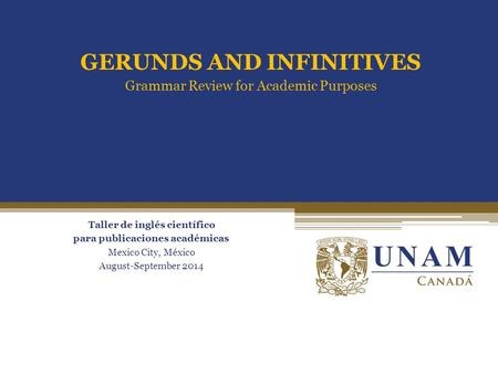 Passive forms of gerunds and infinitives ppt