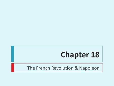 Chapter 18 frq french revolution