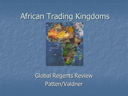 African Trading Kingdoms