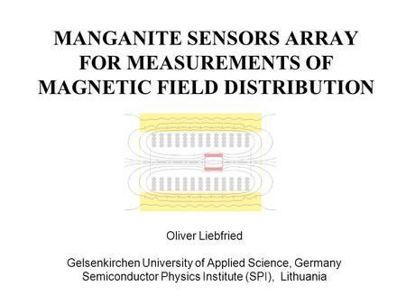 MANGANITE SENSORS ARRAY FOR MEASUREMENTS OF MAGNETIC FIELD DISTRIBUTION Oliver Liebfried Gelsenkirchen University of Applied Science, Germany Semiconductor.