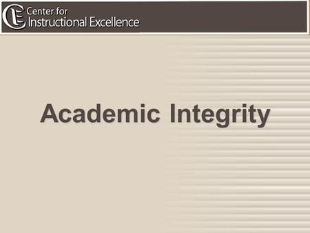 1 Academic Integrity. 2 Goal: To appropriately and effectively recognize and address academic integrity issues you may face as a Teaching Assistant in.
