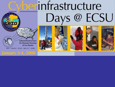 Explore Cyberinfrastructure and ECSU's meaningful & strategic engagement.