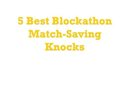 5 Best Blockathon Match-Saving Knocks.  No format of Cricket tests the skills of a cricketer more than Test cricket  The longest format of cricket pushes.