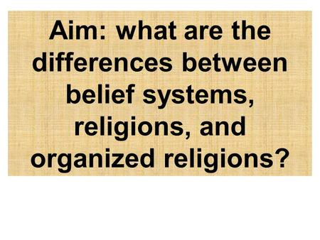 What are Belief Systems?