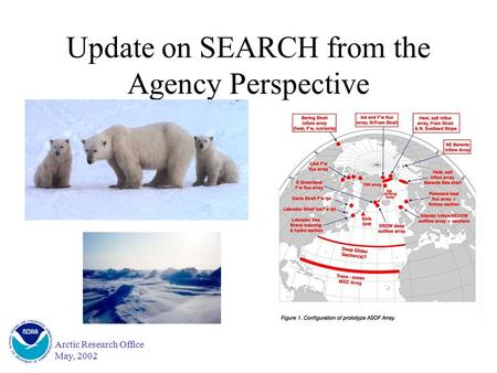Arctic Research Office May, 2002 Update on SEARCH from the Agency Perspective.
