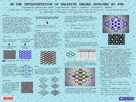 ON THE INTERPRETATION OF GRAPHITE IMAGES OBTAINED BY STM Constantinos Zeinalipour-Yazdi 1, Jose Gonzalez 2, Karen I. Peterson 2, and David P. Pullman 2.