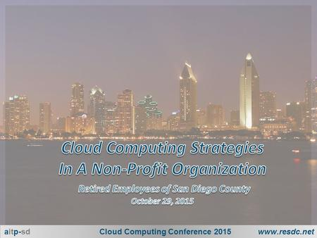 1 aitp-sdCloud Computing Conference 2015www.resdc.net.