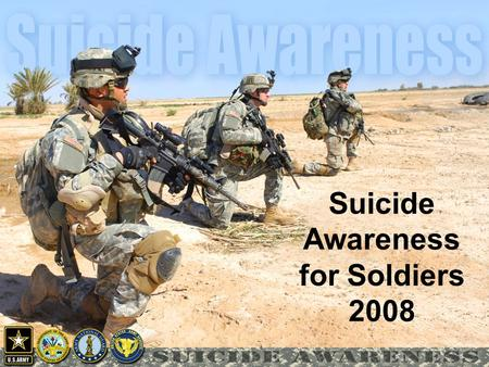 Suicide Awareness for Soldiers 2008. This world, this world is cold But you don't, you don't have to go You're feeling sad you're feeling lonely And no.