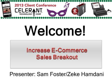 Welcome! Presenter: Sam Foster/Zeke Hamdani. Major Topics To Be Covered In This Presentation Amazon Friendly Data Handling Amazon Errors Amazon Listing.