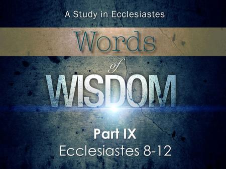 Part IX Ecclesiastes 8-12. Box Size Height: 2.6 Width: 4.43 Position Horizontal: 5.33 Vertical: 4.67 Option Explicit Sub setTextDetails() With ActiveWindow.Selection.TextRange.Font.Name.