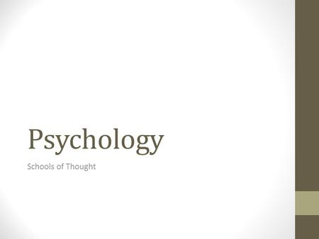 Structuralism: Psychology's First School of Thought