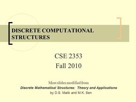 discrete mathematical structures theory and applications by malik pdf