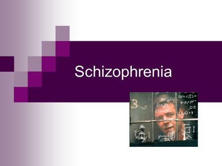 Schizophrenia. Schizophrenia means split mind – it is the most severe and most dreaded of all psychological disorders.